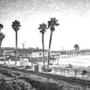 San Clemente Pier California Art Print