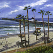 San Clemente Pier Print by Lisa Reinhardt