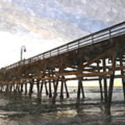San Clemente Pier Sunset Art Print