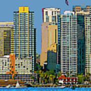 San Diego Downtown Living - Bayside Art Print