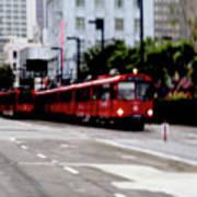 San Diego Red Trolley Art Print