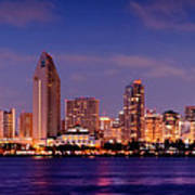San Diego Skyline At Dusk Art Print