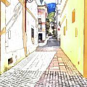 San Felice Circeo Street Art Print