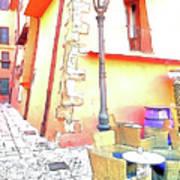 San Felice Circeo Strret Lamp Art Print