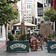 San Francisco - Maiden Lane - Outdoor Lunch At Mocca Cafe - 5d17932 Art Print
