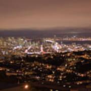 San Francisco At Night Art Print