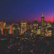 San Francisco At Sunset Art Print