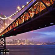 San Francisco Bay Bridge Art Print by Photo by Mike Shaw