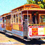 San Francisco Cablecar At Fishermans Wharf . 7d14097 Art Print by Wingsdomain Art and Photography