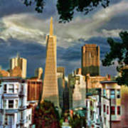 San Francisco Cliff Art Print