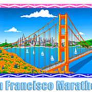 San Francisco Marathon Panorama Art Print