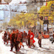 San Francisco Market Street . 40d3701 Print by Wingsdomain Art and Photography