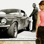 San Francisco Museum Of Art, Frank Bullitt, Steve Mcqueen, Ford Mustang Gt 390, Fastback Art Print
