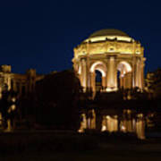 San Francisco Palace Of Fine Arts At Night Art Print