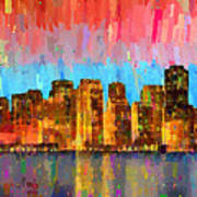 San Francisco Skyline 11 - Pa Art Print