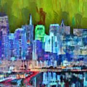 San Francisco Skyline 115 - Pa Art Print