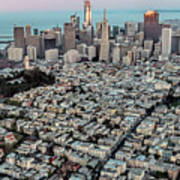 San Francisco Skyline And Coit Tower Art Print