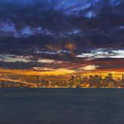San Francisco Sunset Art Print
