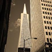 San Francisco - Transamerica Pyramid Sepia Art Print