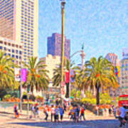 San Francisco Union Square Art Print by Wingsdomain Art and Photography