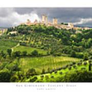 San Gimignano Tuscany Italy Print by Carl Amoth