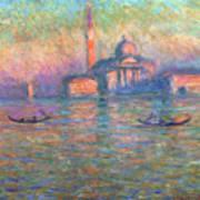 San Giorgio Maggiore Venice Print by Claude Monet