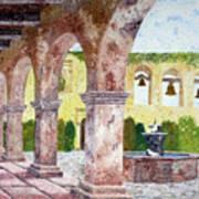 San Juan Capistrano Courtyard Art Print