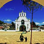 San Juan Chamula Church In Chiapas, Mexico Art Print