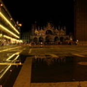 San Marco In Venice At Night Art Print