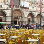 San Marco On A Rainy Day Art Print