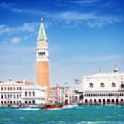 San Marco Square Waterfront Art Print