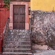 San Miguel Steps And Door Art Print