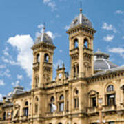 City Hall - San Sebastian - Spain Art Print
