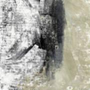 Sand And Steel- Abstract Art Art Print
