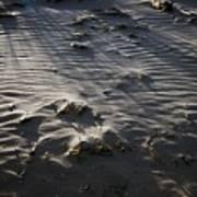 Sand Beach At Sunset Art Print