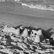 Sand Castles By The Shore Art Print
