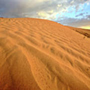 Sand Dune At Great Sand Hills In Scenic Saskatchewan Art Print