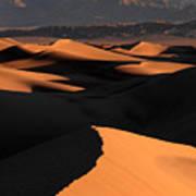 Sand Dunes Sunrise Glow Art Print