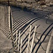 Sand Fence Art Print by Joel P Black