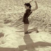 Sand Horse Art Print