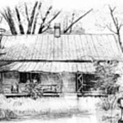 Sandersville Road Farmhouse Art Print