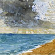 Sandgate Beach. Kent  Art Print