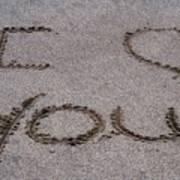 Sandscript - I Love You Art Print