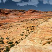 Sandstone Landscape Valley Of Fire Art Print