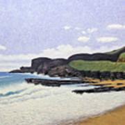 Sandy Beach Oahu Art Print