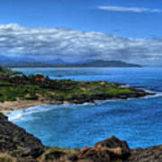 Sandy Beach Park-oahu Art Print