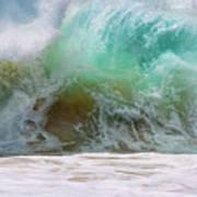 Sandy Beach Surf Art Print
