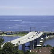 Sandy Hook Bridge Art Print