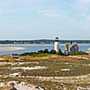 Sandy Neck Lighthouse With Fishing Boat Art Print