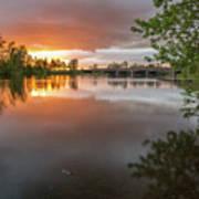 Sandy River Sunset Art Print